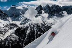 To the Extreme. Chamonix's reputation precedes it, but that's only part of the lure of this iconic winter destination. Ski Europe, Snowboard, Ski Magazine, Ski Mountain, Infused Water Bottle, Travel Planner, Trip Planner, Wide World, Freestyle