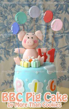 Pig Cake My Cake Pinterest Pig Cakes Cakes And Pigs - Owl percy pig birthday cake