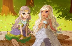 Daughter of princess and the pea and daughter of Jack frost This is amazing, credits to the artist