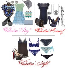 Ravenclaw Valentine's Day, created by slytherinstyle on Polyvore