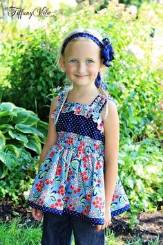 Sabrina's Girls Boutique Top and Dress PDF Pattern