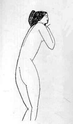 Amedeo Modigliani -Nude (Anna Akhmatova),1919. Pencil on paper