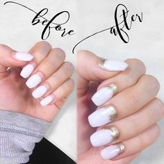 DIY Cost effective nail trick for longer lasting nails. Opi gel : Funny Bunny || Gold nail polish : Sally Hanson golden extreme hardware ( blogger tips fill ins design white ) see website below for directions