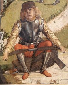 Medieval Archer, Medieval Paintings, Landsknecht, Medieval Weapons, Medieval Costume, Arm Armor, Doublet, Crossbow, 15th Century