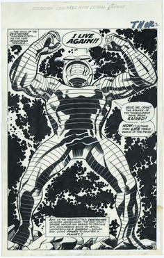 """Destroyer Crackles with Lethal Energy"" from Thor - art by Jack Kirby"