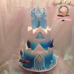 Frozen castle cake Castle Birthday Cakes, Frozen Castle Birthday Cake, Frozen Cake Castle, Elsa Frozen Cake, Frozen Cakes Birthday, Easy Princess Castle Cake, Elsa Castle Cake ... Disney Frozen Cake, Elsa Frozen Cake, Frozen Birthday Cake, Olaf Cake, Frozen Party, Frozen Cakes, Birthday Cakes
