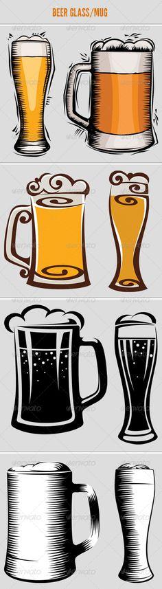 VECTOR DOWNLOAD (.ai, .psd) :: https://sourcecodes.pro/article-itmid-1006474411i.html ... Beer Glass and Mug ... bar, beer, beer glass, beer icon, beer mug, beverage, cocktails, cup, drink, mug, print. set, sign, symbol, vine, vodka, wineglass ... Vecto