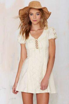 Vintage Alia Lace Mini Dress