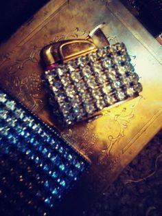 c562209fdc81b Vintage Rhinestone Weisner of Miami and Evans lighter. No missing stones.   fashion
