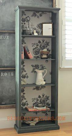 bookshelf makeover Bookshelf Ideas: Diy Bookcase Makeover That You Can Try Bookcase Makeover, Furniture Makeover, Office Makeover, Refurbished Furniture, Repurposed Furniture, Refurbished Bookcase, Bookcase Upcycle, Furniture Projects, Diy Furniture