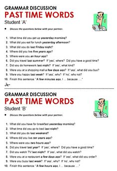 Past Time Words - All Things Grammar Learn English Speaking, Learn English Grammar, English Language Learning, Learn English Words, English Lessons, Teaching English, Education English, English Reading, English Writing