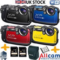 Fuji-XP200-Waterproof-Digital-Camera-Bundle-WiFi-16MP-5x-Zoom-Underwater-Camera Fuji, Digital Camera, Underwater, Ebay, Digital Camo, Under The Water, Digital Cameras