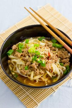 Dandan noodles:  (擔擔麵 in Chinese) is a classic Sichuan cuisine. The spicy sauce as the key element makes this dish so additive. Minced pork and chopped spring onions are served on top of noodles. Sesame paste is regarded as a must add ingredient of the spicy sauce. So, along the way of taking every bite of the springy noodles, you can smell the strong sesame aroma.