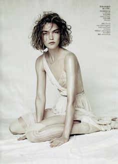 Arizona Muse by Paolo Roversi for Vogue China April 2011  https://www.facebook.com/Fashionisinlove