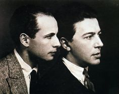 Louis Aragon and André Breton in 1924