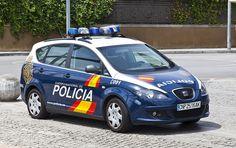Barcelona, SEAT Altea XL Police car, Cuerpo Nacional de Policia