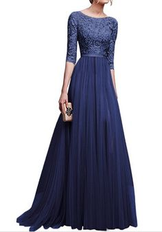 2019 Autumn New Elegant Half Sleeve Chiffon Lace Stitching Women Party Prom Evening Much Color Long maxi Dress Female Clothing Maxi Dress With Sleeves, Chiffon Dress, Lace Maxi, Gown Dress, Tulle Dress, Long Sleeve Gown, Lace Chiffon, Half Sleeves, Purple Bandage Dress