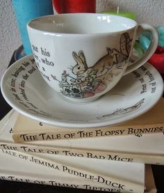 Beatrix Potter ~ Wedgewood Peter Rabbit children's tea set (only part shown)
