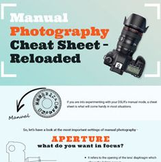 All the basics of photography in one easy cheat sheet. ISO, Aperture, shutter speed, exposure, white balance etc. Understand what all the camera settings do. how to shoot in manual for more creative control.