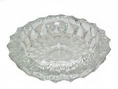 Crystal Diamond  Ashtray 4 Slot Heavy Vintage 7 by WhatnotGems, $28.95 This ashtray is beautifully cut with clean, rounded cuts, so beautiful I have used it for Ikebana ( The Japanese Art of Flower Arrangement) with wonderful results.