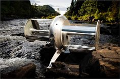 River Turbine: Environmentally friendly energy source.