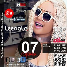 coming soon...my new radio show 07th of September with Nion Live session (vendjs.com) TIME - 21:00 - UKR 09:00 - NYC 09:00 VEN ALWAYS WELLCOME FOR LISTENING #leenata, #radio_show, #remix, #radio, #edm, #edm_2016, #fresh_music, #djane, #top_dj, #top_djane, #international_dj, #vocal_djane, #mix, #mixcloud, #clubtone, #clubtonetop100