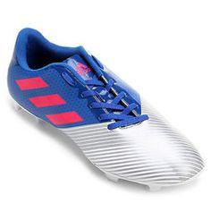 Chuteira Campo Adidas Artilheira 17 FG Masculina - Azul+Prata 4014c56550c46