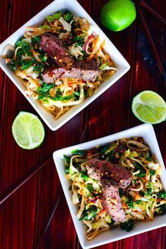 Spicy Rice Noodle Salad - 2 Ways (GF)