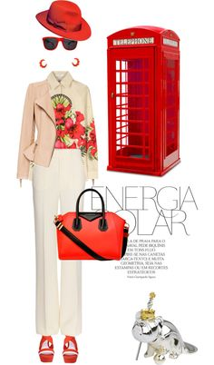 """""""Phonebox red"""" by pensivepeacock ❤ liked on Polyvore"""