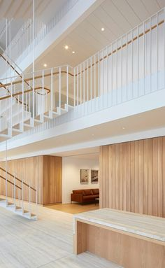 Piercy & Company suspends staircase in new atrium of Savile Row office