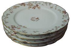 1900-1910 Haviland Limoges Luncheon Plates from France on OneKingsLane.com