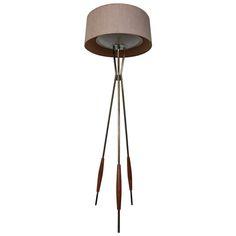 Gerald Thurston For Lightolier Mid-Century Tripod Floor Lamp