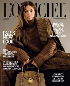 Thylane Blondeau layers up for the September 2017 cover of L'Officiel Paris. Photographed by Daniyel Lowden, the French beauty embraces neutral hues in a jacket, sweater, trousers and bag from Michael Kors Collection. Inside the fashion glossy, Thylane wears even more styles from the American designer's fall runway looks. Stylist Vanessa Bellugeon dresses the L'Oreal...[Read More]