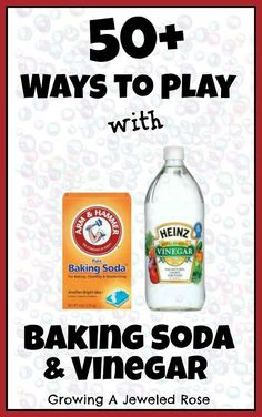 Over 50 SUPER FUN ways to play with baking soda and vinegar from Growing A Jeweled Rose. looks good to check out later, I love baking soda and vinegar. Kid Science, Preschool Science, Science Activities, Science Projects, Projects For Kids, Activities For Kids, Crafts For Kids, Science Centers, Summer Science