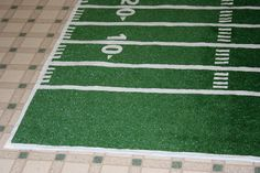 How to make a football field rug out of outside carpet, perfect for laying out when tailgating #ultimatetailgate #fanatics