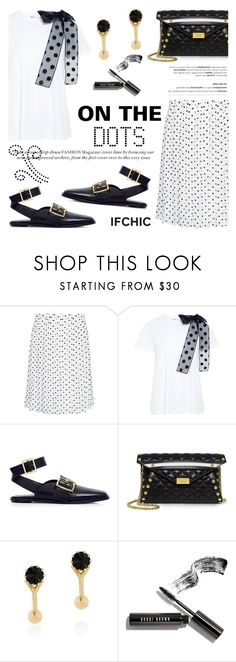 """On the dots!"" by ifchic ❤ liked on Polyvore featuring Theory, RED Valentino, TIBI, Boutique Moschino, Joomi Lim, Bobbi Brown Cosmetics and contemporary"