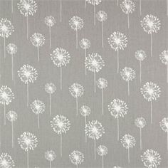 "Premier Prints Small Dandelion, Storm/White 100% 7 oz cotton drapery fabric.  Pattern Information:  13 1/4"" Horizontal 10"" Vertical  Fabric: 100% 7 ounce Cotton  Width: 54""  v114"