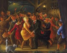 Barn Dance by Clyde Singer (1908-1999), another museum curator like John Rogers Cox who recognized the value of other regionalist artists