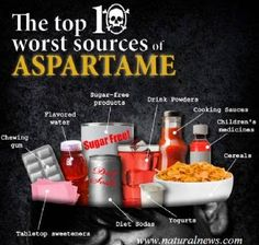 The Top 10 Worst Sources of Aspartame by The Health Ranger (Diet pop, chewing gum, artificial sweeteners, etc. Health And Nutrition, Health And Wellness, Health Fitness, Holistic Nutrition, Wellness Tips, Nutrition Resources, Health Guru, Fitness Facts, Wellness Products
