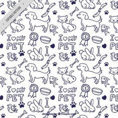 Hand drawn animals pattern
