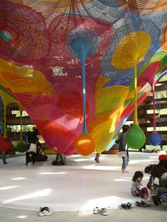 Knitted Wonder Space designed by Toshiko Horiuchi