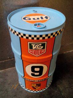 gulf retro design vintage fassmöbel,Ölfass regal,vitrine ... - Wohneinrichtung In Garage
