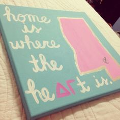 Too cute DG canvas!! It would be 1,000 times better with the state of Alabama on it though :)!