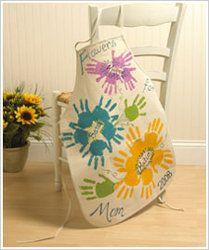 Flowers handprint apron