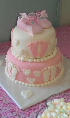 Girl Baby Shoes Cake Topper Baby Shower Cake