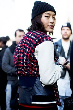 On the Street…..Fashion in Detail, Paris  Love this look