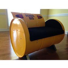 Drum Barrel Kids School Bus Armchair