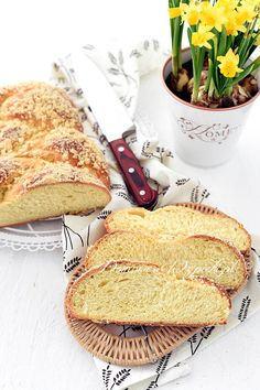 Chałka Camembert Cheese, French Toast, Recipies, Easter, Bread, Cooking, Breakfast, Yummy Yummy, Food