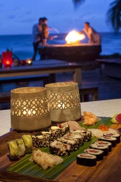 Tropical island feasting on North Island #Seychelles #luxury_resort