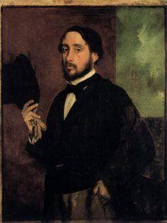 DEGAS, Edgar Self-Portrait c. 1863 Oil on canvas, 93 x 67 cm Museu Calouste Gulbenkian, Lisbon